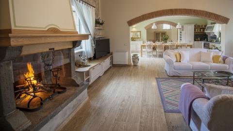 Wohnzimmer Ferienhaus Toskana