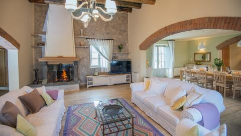 Wohnzimmer in der Villa