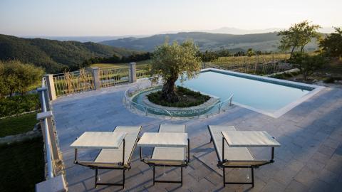 Pool in der Toskana