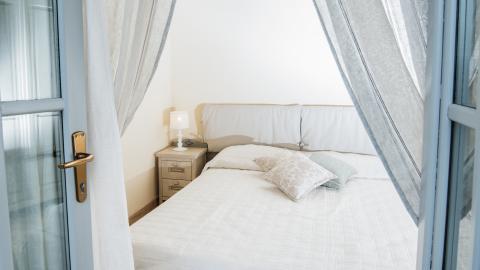 Schlafzimmer in der Villa
