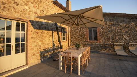 Terrasse der Villa