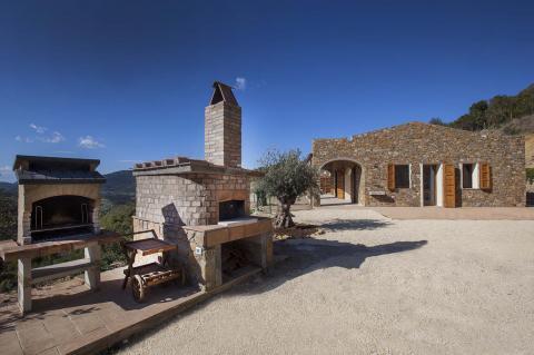 Familie/groeps villa met barbecue en pizza oven