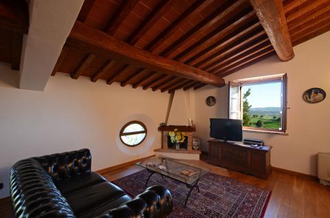 woonkamer boven in villa