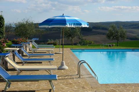 Panoramische villa nabij Siena, Toscane