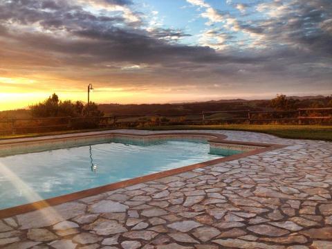 Pool im Agriturismo