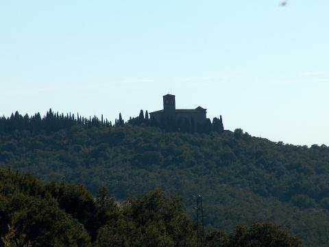Uitzicht typisch Toscaans, val d'Orcia en Crete Senesi, Toscane.