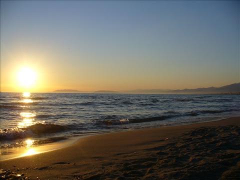 Brede stranden van Viareggio, Toscane - Italie