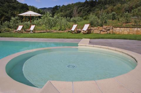 Naar Toscane met kids: zwembad met kinderbad