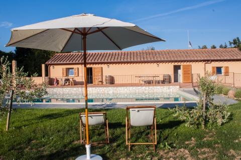 Vakantiewoningen met zwembadzicht