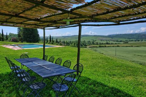 Genieten van het uitzicht en een Toscaans diner