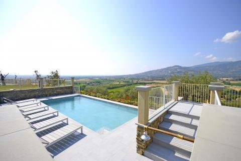 Vakantiehuis Cortona met panoramisch gelegen privé zwembad