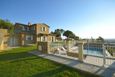 Vakantiehuis bij Cortona voor 8 personen
