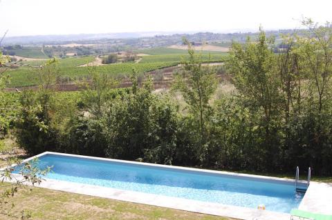 Pool der alleinstehenden Villa in der Toskana