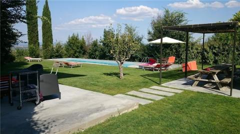 Garten der Villa in Montepulciano