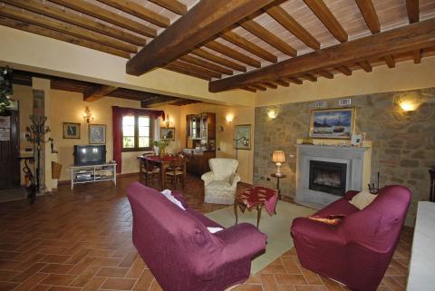 2 Toscaanse appartementen in 1 villa