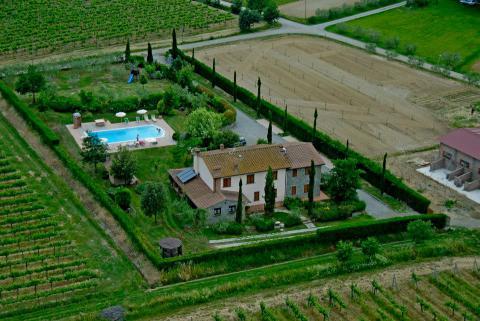 Vakantiehuis in de Toscaanse wijngaarden