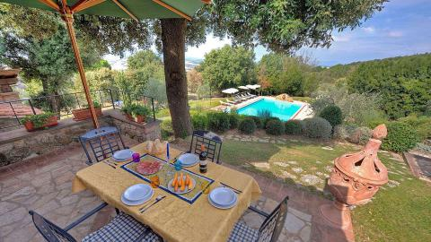 Schöne Ferienwohnungen mit Pool und Klimaanlage mitten in der Toskana, Tritt-Toskana.de