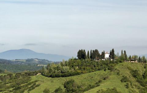 Villa op de top van de heuvel