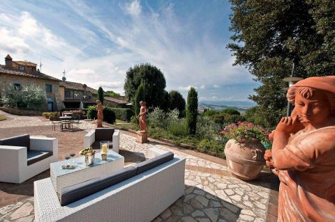 Luxe villa Montaione Toscane met zwembad