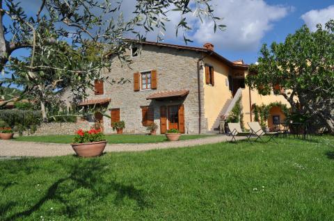 Appartementen bij Arezzo met panoramische ligging