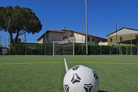 Fußballplatz in der Toskana