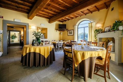 Restaurant van de B&B in Montespertoli