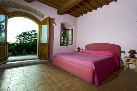 Schlafzimmer Drei-Zimmer-Wohnung Orciaia