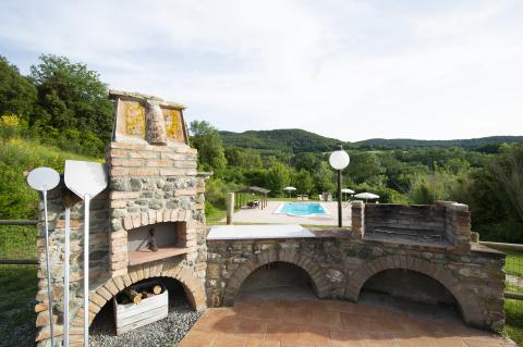 Ferienhaus mit Pool bei Pisa