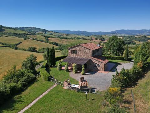 Casa Giola - freistehendes Ferienhaus mit Pool bei Pisa, Toskana