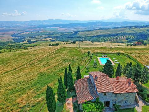 Villa voor groep 8 slaapkamers Val dorcia Toscane