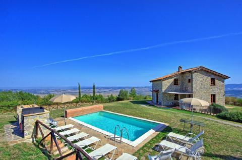 Vrijstaand vakantiehuis Val d'Orcia Toscane