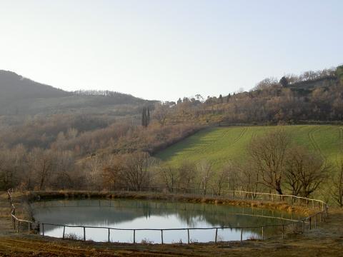 Natuurlijke waterplaats bij de villa