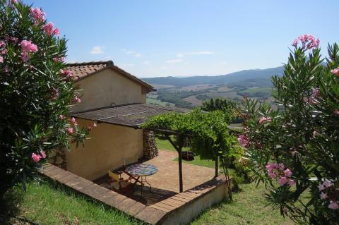 Vakantiewoningen Toscane kust met uitzicht