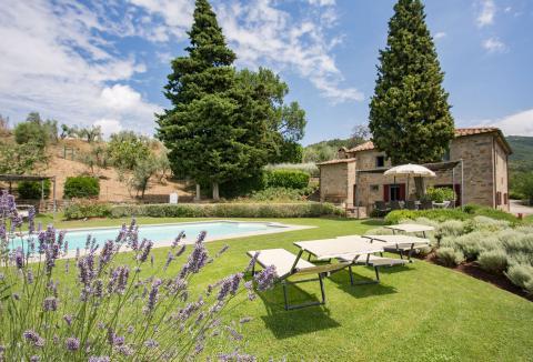 Vakantiehuis Arezzo Toscane panoramisch uitzicht