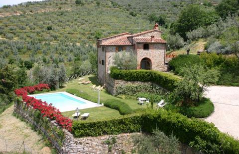 Villa met panoramische ligging Arezzo