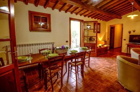 Wohnzimmer der Villa Calci