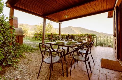 Pergola der Ferienwohnung Villa Calci