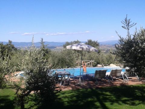 Entspannung an dieser Villa in der Toskana