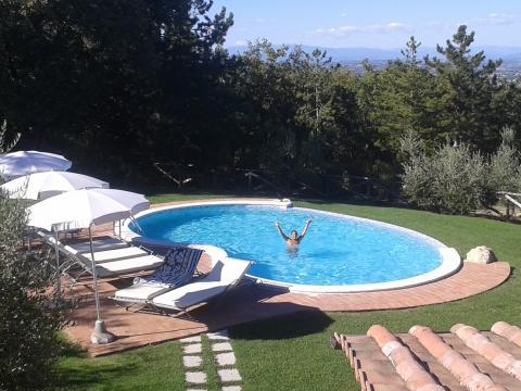 Privater Pool von Villa Montepulciano