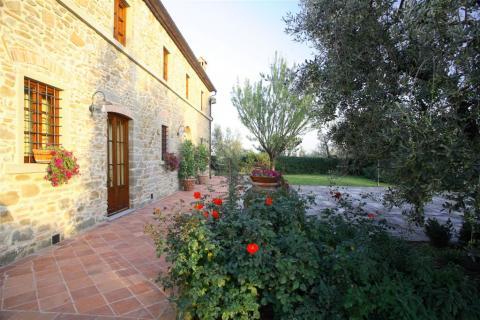 Terras overzicht villa Sull Arno in Florence