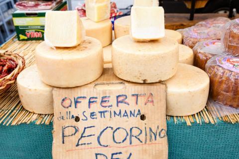 Pecorino Käse - Pecorino di Pienza, ein fantastischer Schafkäse