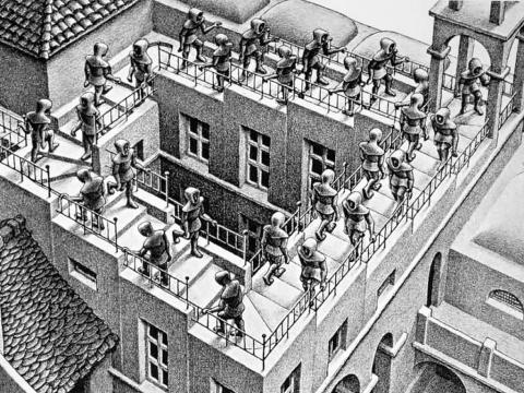 Die Ausstellung der Werke von Maurits Cornelis Escher in Pisa