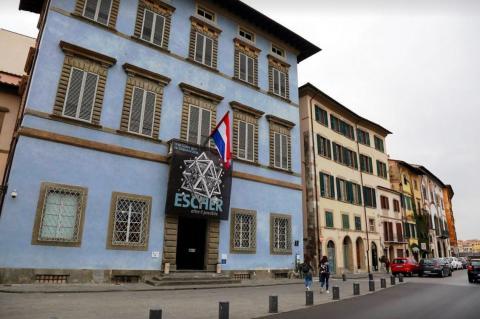 MC Escher in het Palazzo Blue in Pisa