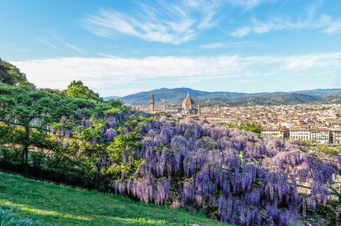 Villa Bardini in Florenz bietet eine der schönsten Aussichten über diese wunderschöne Stadt