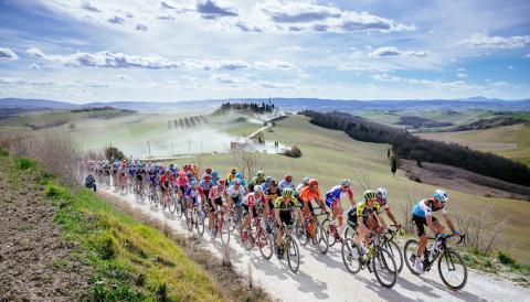 """""""Strade Bianche"""", das nördliche Fahrradrennen im Süden der Toskana"""